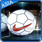 Football Helium Balloon And Blimps , Soccer Advertising Ball Inflatable Sports