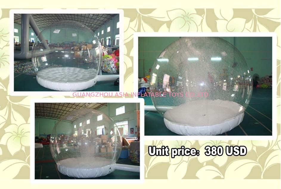 Customize EN71 Inflatable Snow Globe with Snow Machine